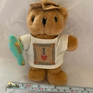 Avon Fishing Bear Pastime Pals I Love Fishing doll